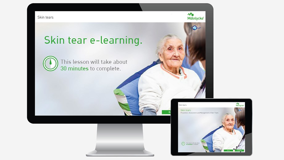 Screenshot van e-learning skin tears